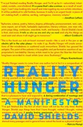 Chip Kidd Book Cover - David Shields Reality Hunger a Manifesto Book