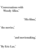Book Cover- Eric Lax Conversations with Woody Allen